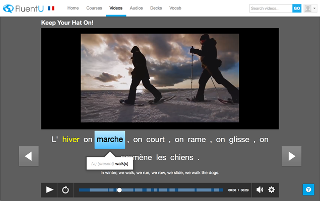 FluentU Video Player