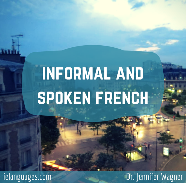 Informal and Spoken French e-book with mp3s