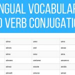 Multilingual Vocabulary Lists and Verb Conjugations