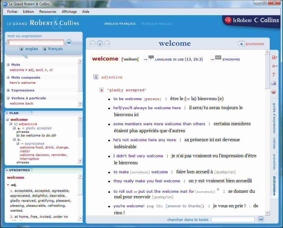 Le Grand Robert & Collins CD-ROM Dictionary