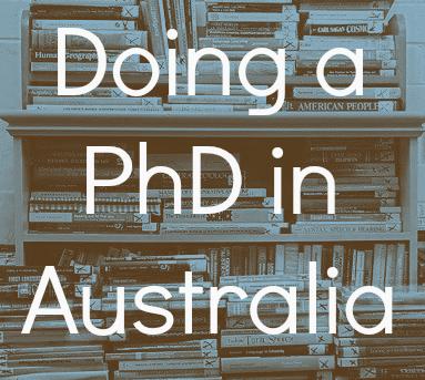 Doing a PhD in Australia