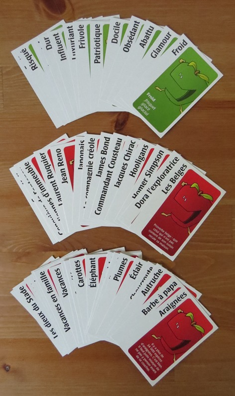 Apples to Apples in French cards