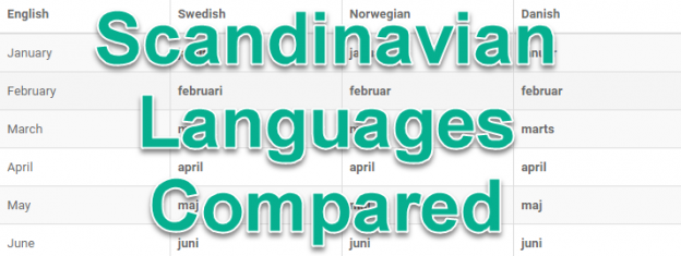 Scandinavian Languages Compared Learn Swedish Norwegian And Danish Together