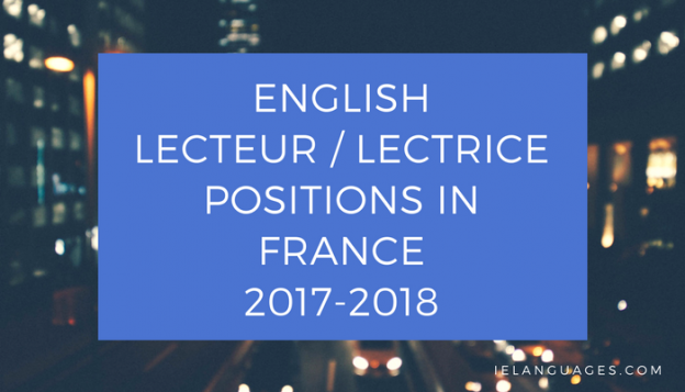 Become and English lecteur in France in 2017