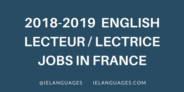 English Lecteur Jobs in France for 2018