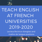 English Teaching Positions at French Universities 2019-2020