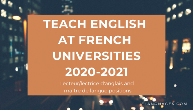 Teach English at French Universities 2020-2021