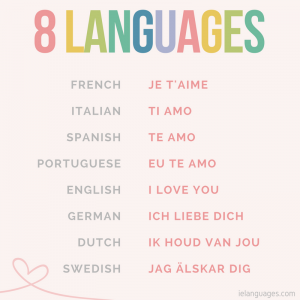 How to say I love you