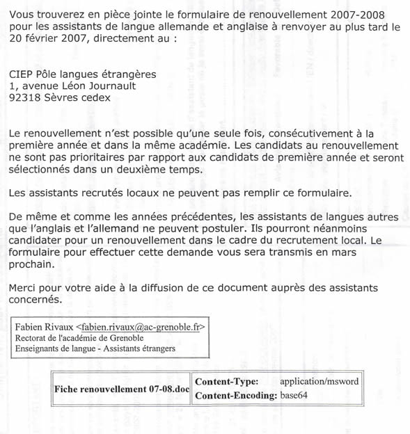 Tapif documents and links tapif guide france renewal information how to renew your assistantship contract altavistaventures Choice Image